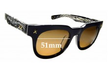 Sunglass Fix Sunglass Replacement Lenses for HAKIOS HK1005 - 51mm Wide