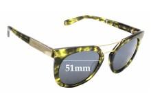 Sunglass Fix Sunglass Replacement Lenses for Henri Bendel Broadway - 51mm Wide