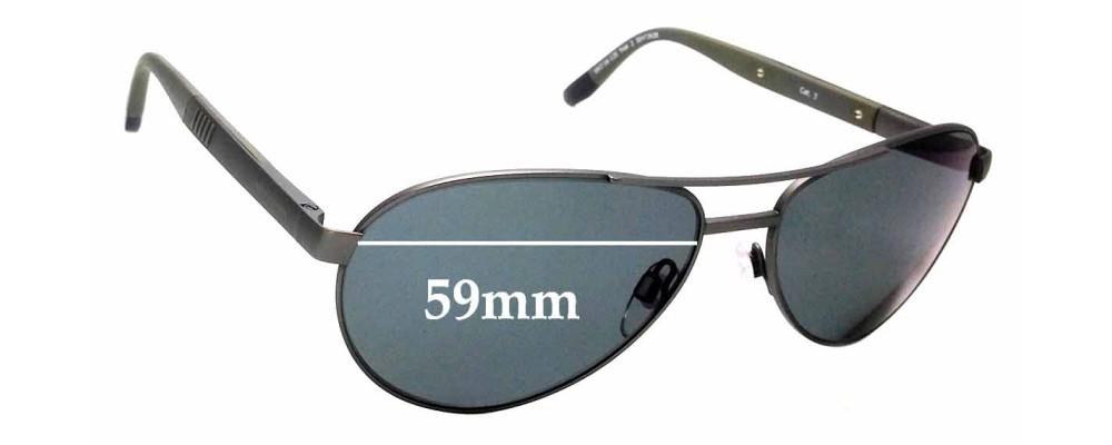 Sunglass Fix Sunglass Replacement Lenses for Henri Lloyd No Heating - 59mm Wide