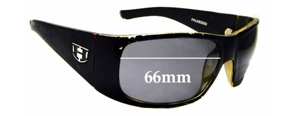 Sunglass Fix Sunglass Replacement Lenses for Hoven Vision Ritz - 66mm Wide