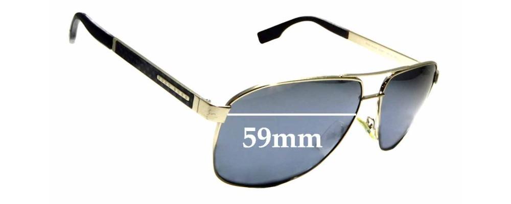 bc71fe5f8171 Sunglass Fix Sunglass Replacement Lenses for Hugo Boss 0442/S - 59mm wide