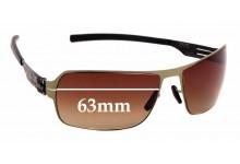 Sunglass Fix Sunglass Replacement Lenses for IC! Berlin Jesse - 63mm Wide