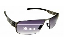 Sunglass Fix Sunglass Replacement Lenses for IC! Berlin Model Mortimer - 58mm Wide