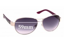 Sunglass Fix Sunglass Replacement Lenses for Juicy Couture WJC61SG28S - 59mm Wide