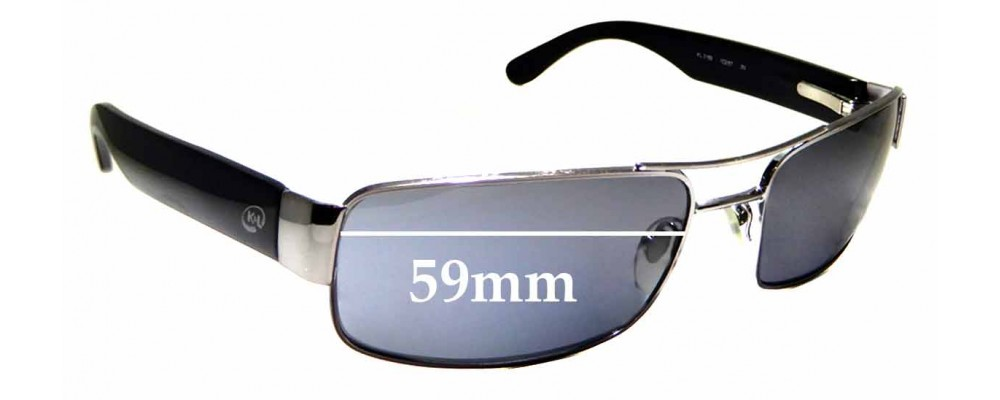 Sunglass Fix Sunglass Replacement Lenses for K&L KL3189 - 59mm Wide