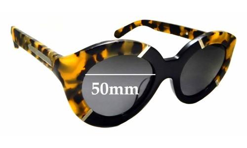 Sunglass Fix Sunglass Replacement Lenses for Karen Walker Flowerpatch - 50mm Wide