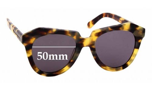 Sunglass Fix Sunglass Replacement Lenses for Karen Walker Number One - 52mm Wide