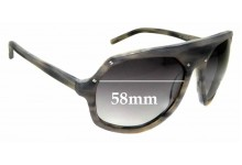 Sunglass Fix Sunglass Replacement Lenses for Linda Farrow Raf Simons Grabs For Up - 58mm Wide