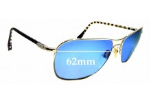 Sunglass Fix Sunglass Replacement Lenses for Louis Vuitton Conspiration Pilote Z0066U - 62mm Wide