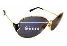 Sunglass Fix Sunglass Replacement Lenses for Louis Vuitton Z0262U - 66mm Wide