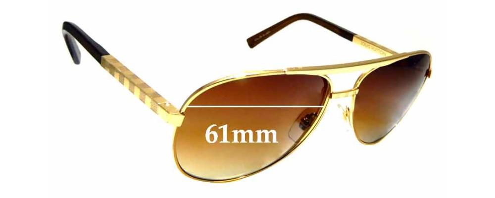fe136dbcfa55 Sunglass Fix Sunglass Replacement Lenses for Louis Vuitton Z0339U - 61mm  wide