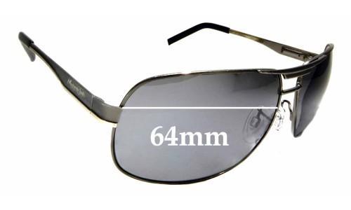 Sunglass Fix Sunglass Replacement Lenses for Mangrove Jacks Rowdy - 64mm Wide