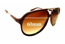 Sunglass Fix Sunglass Replacement Lenses for Marc by Marc Jacobs MMJ 327/S - 60mm Wide