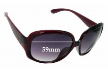 Sunglass Fix Sunglass Replacement Lenses for Marc by Marc Jacobs MMJ 206/F/S - 59mm Wide