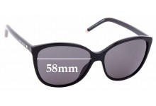 Sunglass Fix Sunglass Replacement Lenses for Marc By Marc Jacobs Sun Rx 01 - 58mm Wide