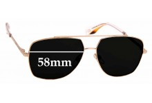 Sunglass Fix Sunglass Replacement Lenses for MARC BY Marc Jacobs Sun Rx 07 - 58mm Wide