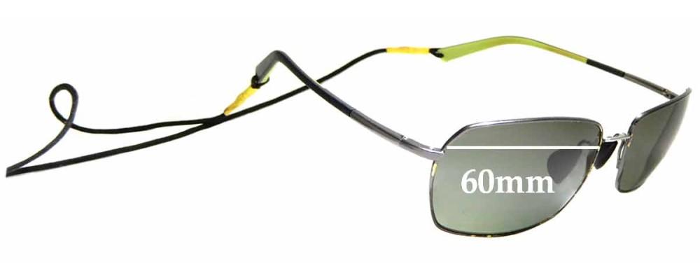 Sunglass Fix Sunglass Replacement Lenses for Maui Jim High Tide MJ323 - 60mm Wide