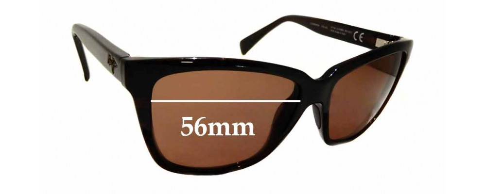 Sunglass Fix Sunglass Replacement Lenses for Maui Jim Jacaranda MJ763 - 56mm Wide