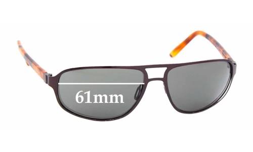Sunglass Fix Sunglass Replacement Lenses for Maui Jim MJ232-2 Lahainaluna - 61mm Wide