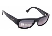 Sunglass Fix Sunglass Replacement Lenses for Maui Jim MJ250 Lava Flow - 58mm Wide