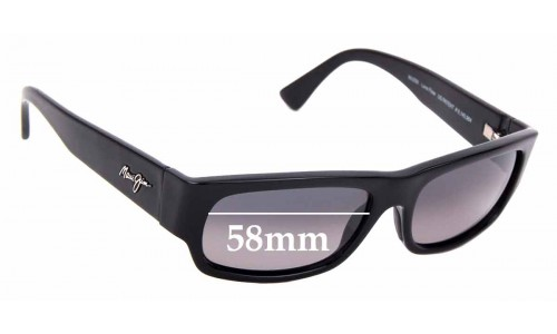 Sunglass Fix Sunglass Replacement Lenses for Maui Jim Lava Flow MJ250 - 58mm Wide