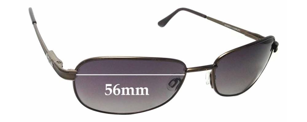 Sunglass Fix Sunglass Replacement Lenses for Maui Jim MJ131 Islanders - 56mm Wide