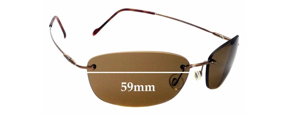 Sunglass Fix Sunglass Replacement Lenses for Maui Jim Kona MJ451 - 59mm Wide