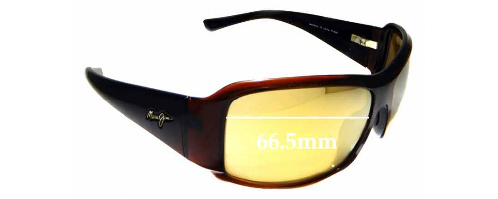 Sunglass Fix Sunglass Replacement Lenses for Maui Jim MJ255 Nine Palms - 66.5mm Wide