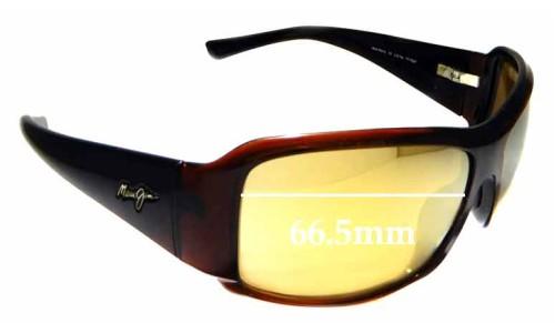 Sunglass Fix Sunglass Replacement Lenses for Maui Jim MJ255 Nine Palms - 66.5mm Wide
