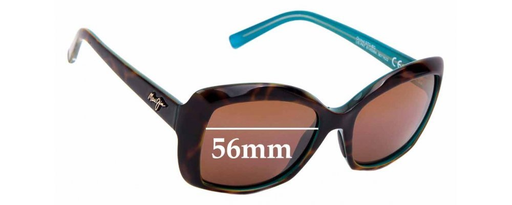 Sunglass Fix Sunglass Replacement Lenses for Maui Jim MJ735 Orchid - 56mm Wide