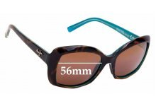 Sunglass Fix Sunglass Replacement Lenses for Maui Jim MJ735 Orchid - 56mm Wide