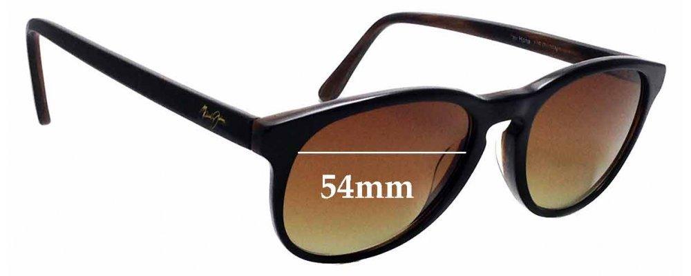 Sunglass Fix Sunglass Replacement Lenses for Maui Jim MJ238 Pau Hana - 54mm Wide