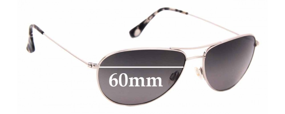 Sunglass Fix Sunglass Replacement Lenses for Maui Jim MJ772 Sea House - 60mm Wide