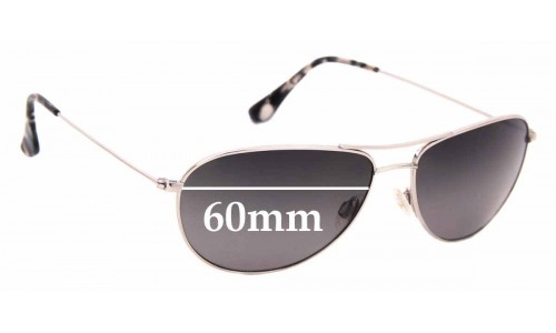 Sunglass Fix Sunglass Replacement Lenses for Maui Jim Sea House MJ772 - 60mm wide