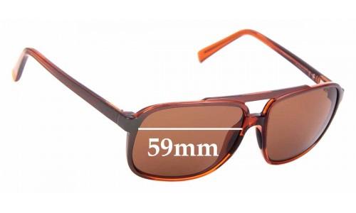 Sunglass Fix Sunglass Replacement Lenses for Maui Jim Silversword MJ701 - 59mm Wide