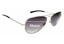 Sunglass Fix Sunglass Replacement Lenses for Michael Kors Jet Set M2047SP - 58mm Wide