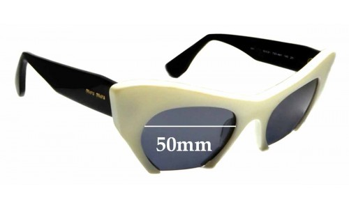 Sunglass Fix Sunglass Replacement Lenses for Miu Miu SMU10OS - 50mm Wide