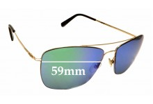 Sunglass Fix Sunglass Replacement Lenses for Montblanc MB 594S - 59mm Wide