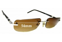 Sunglass Fix Sunglass Replacement Lenses for Montblanc MB 86S - 54mm Wide