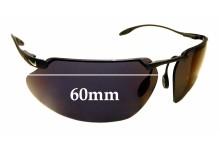 Sunglass Fix Sunglass Replacement Lenses for Nike Hyperion/P II EG0035 - 60mm Wide