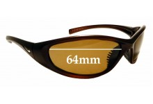 Sunglass Fix Sunglass Replacement Lenses for Nike EV0178 Tarj Round - 64mm Wide