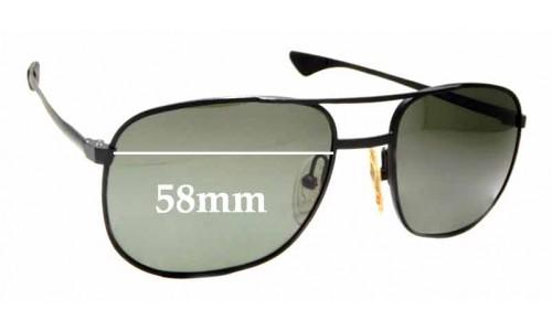 Sunglass Fix Sunglass Replacement Lenses for Oakley Elmont M OO4119 - 58mm wide