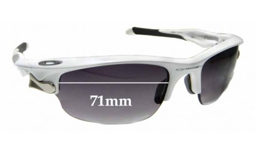 Sunglass Fix Sunglass Replacement Lenses for Oakley Fast Jacket OO9097 - 71mm Wide