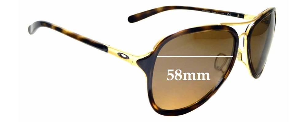 Sunglass Fix Sunglass Replacement Lenses for Oakley Kickback OO4102 - 58mm Wide