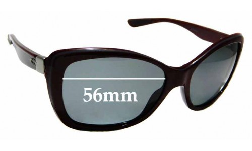 Sunglass Fix Sunglass Replacement Lenses for Oakley News Flash OO2025 - 56mm Wide