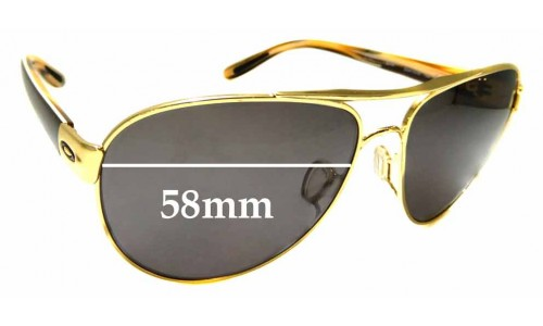 Sunglass Fix Sunglass Replacement Lenses for Oakley Disclosure OO4110 - 58mm Wide