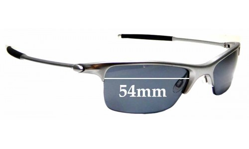 Sunglass Fix Sunglass Replacement Lenses for Oakley Razrwire - 54mm wide
