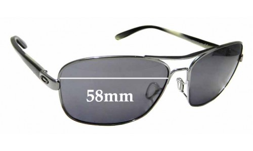 Sunglass Fix Sunglass Replacement Lenses for Oakley Sanctuary OO4116 - 58mm Wide