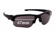 Sunglass Fix Sunglass Replacement Lenses for Oakley Speed Jacket OO9228 - 67mm Wide