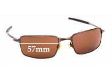 Sunglass Fix Sunglass Replacement Lenses for Oakley Square Wire - 57mm Wide